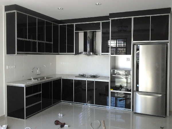 Classic alum home design renovation aluminium kitchen for Kitchen set aluminium modern