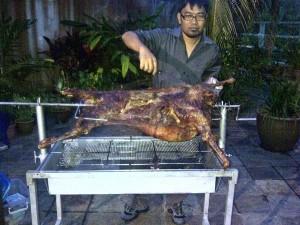 whole roasted lamb