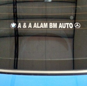 Alam BM Auto car stickers
