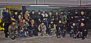 Paintball player group pic
