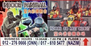 indoor go kart paintball