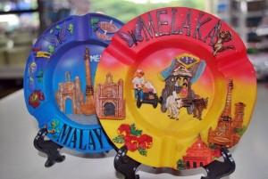 Ashtray Gift Plate Melaka cenderamata