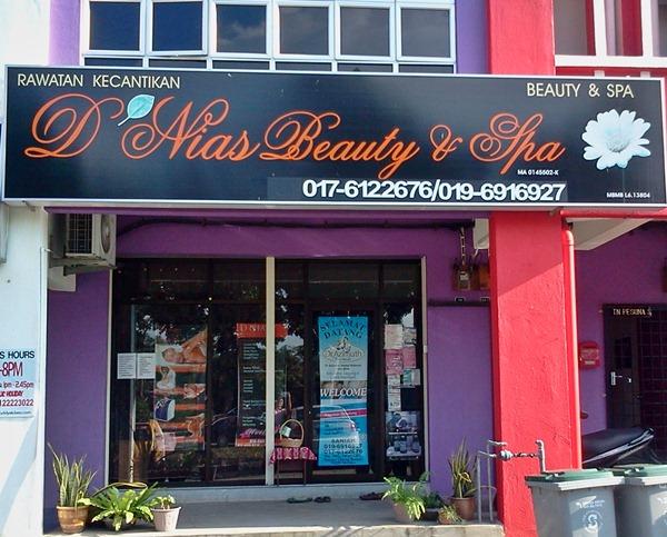 DNias Beauty Spa Cheng Bestari Melaka