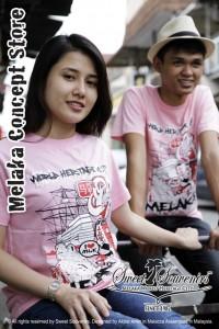 Souvenir couple tshirt melaka