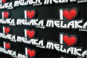 fridge magnet i love melaka