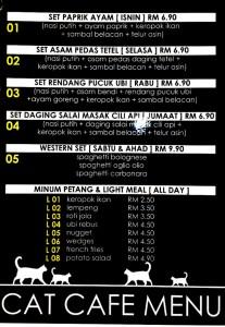 cat theme cafe menu_melaka
