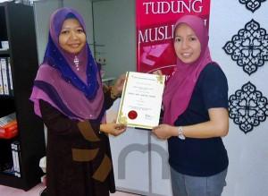 kelas jahitan tudung masjid tanah melaka class pic (7)