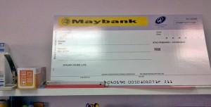 mock cheque check melaka