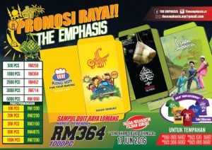 Design Printing Emphasis promosi raya