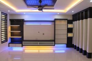 flat plaster ceiling