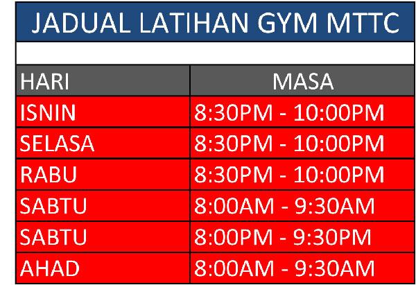 GYM-MELAKA-timetable