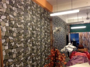 3D outdoor wall covering