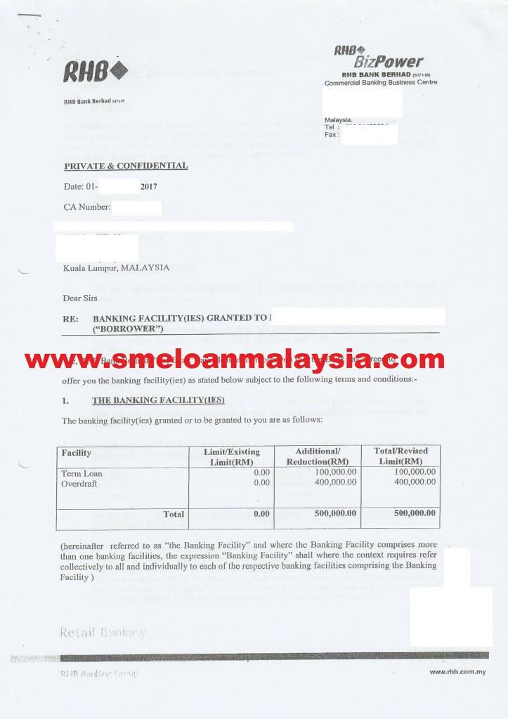 RHB SME loan
